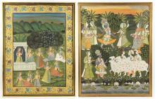 Dancers, 2 Oil on Linen Paintings