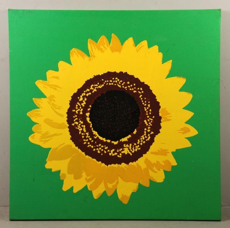 Pop Art Style Sunflower Print