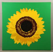 Pop Art Style Sunflower Print
