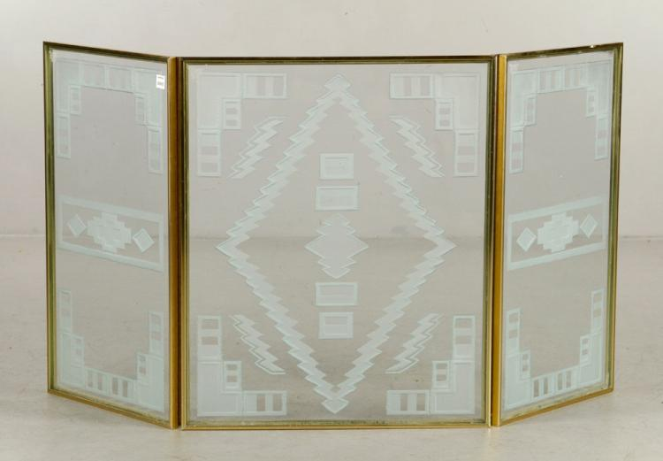 Art Deco Folding Fire Screen