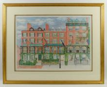 Shectman, Francis Parkman House, Colored Print