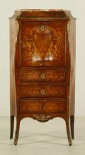 French Inlaid Marquetry Desk