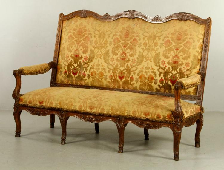 19th C. Italian Carved Sofa