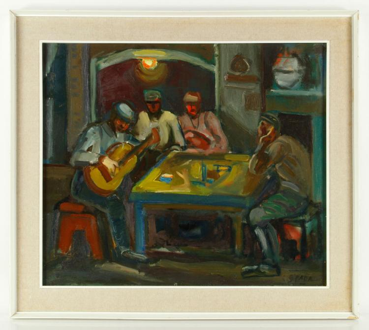 Costantino, Musicians at Table, Oil on Canvas