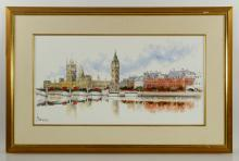 View of London, Oil on Canvas
