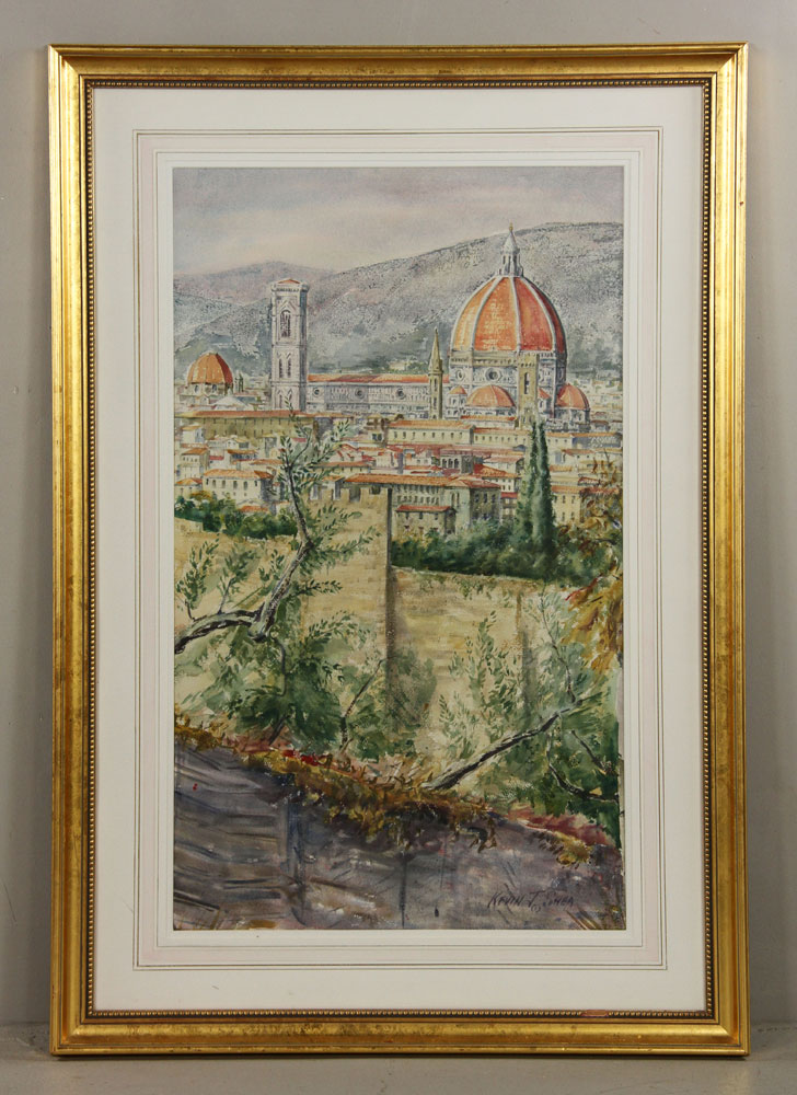 Shea, View of Il Duomo, Watercolor