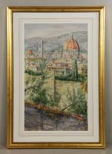 Shea, View of Il Duomo, Watercolor