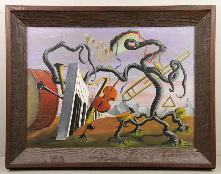 Beaujon, Surrealist Orchestra, Oil on Canvas