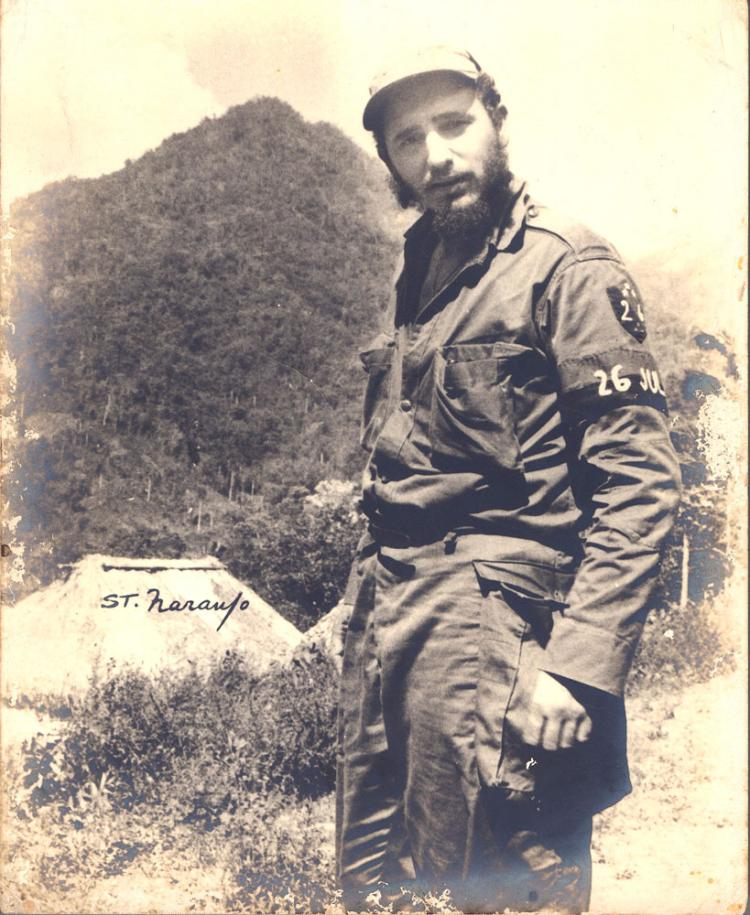 Photograph of Fidel Castro in the Mountains