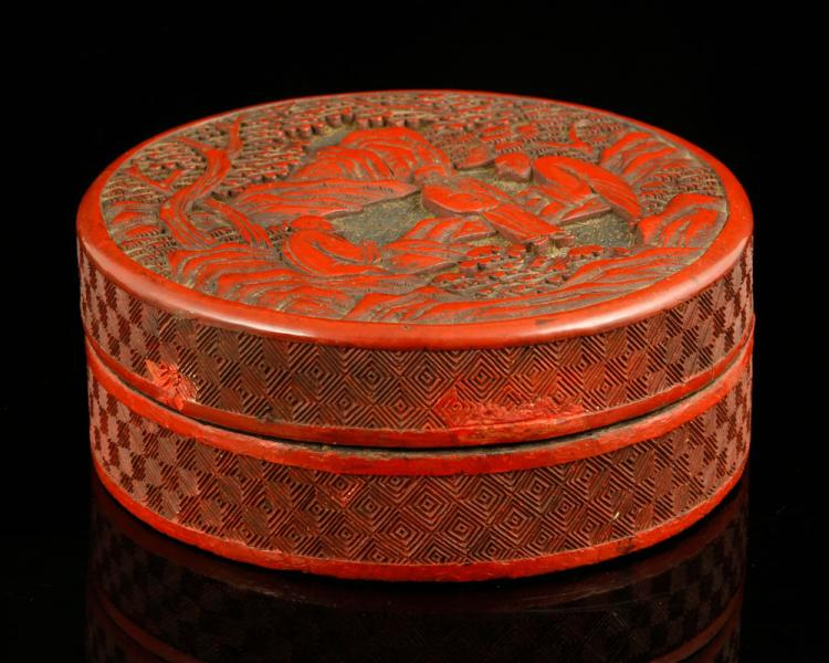 Chinese Republic Period Lacquer Box
