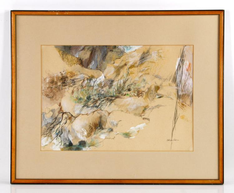 Kranstein, Desert Scene, Pastel