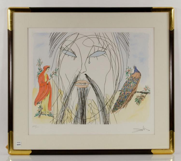 Dali, Crying Man, Etching