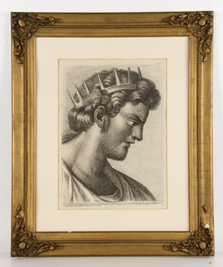 Profile of Emperor Constantine, Etching