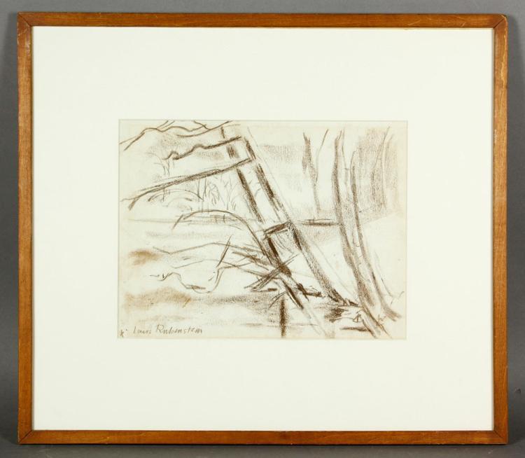 Rubenstein, Forest Scene, Crayon