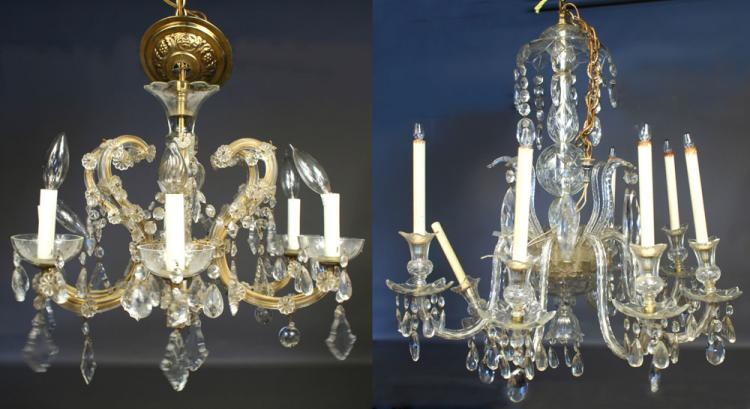 20th C. French Style Crystal Chandelier