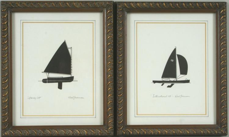 Freeman, Two Sailboat Prints