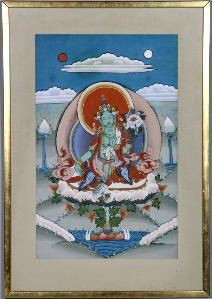 Early 20th C. Tibetan Thangka