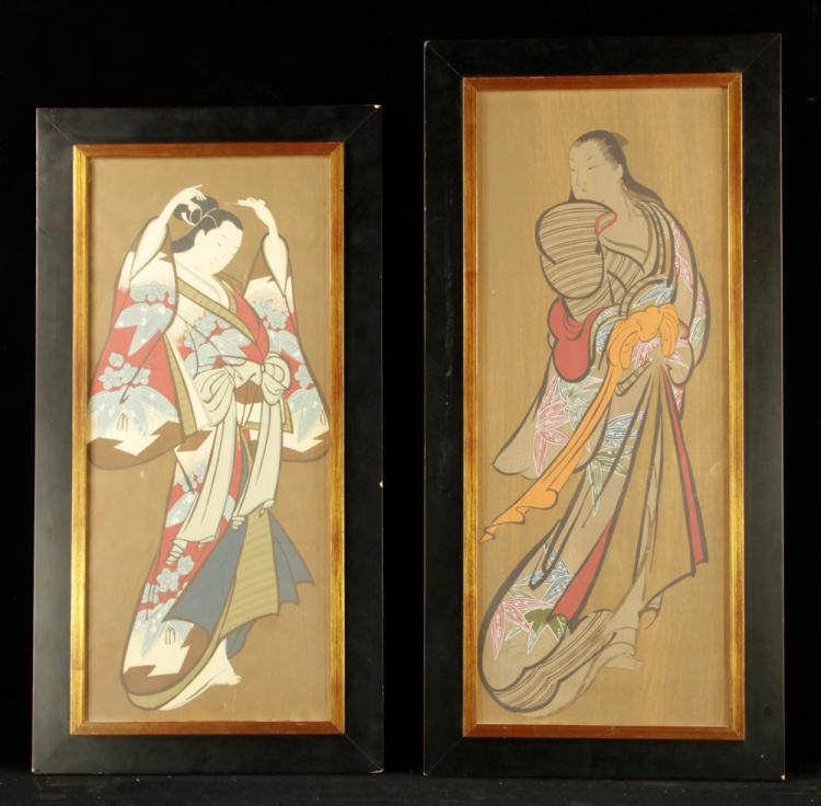 Pr. Japanese Geisha Paintings