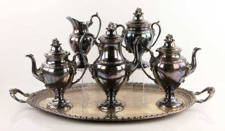 Meriden Silver Plate Tea Set