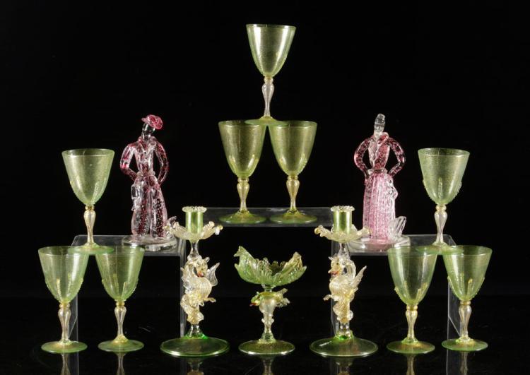 Lot of Venetian Glass