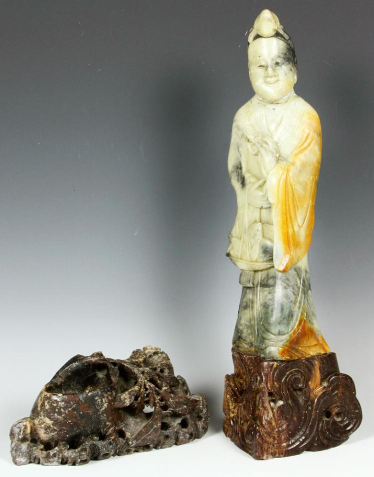 2 Chinese Soapstone Items