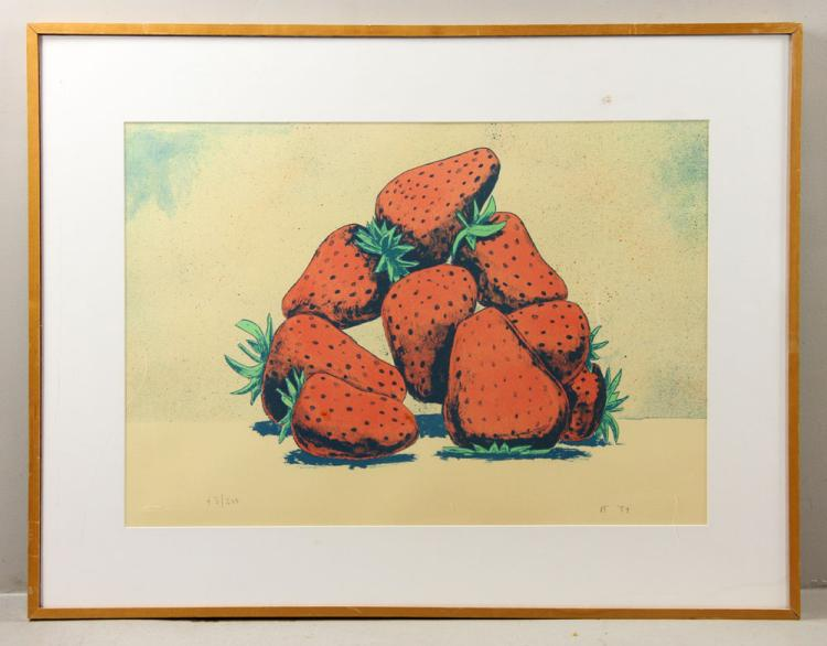 Fink, Strawberries, Lithograph