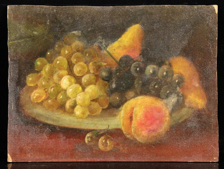 Still Life with Fruit, Oil on Board