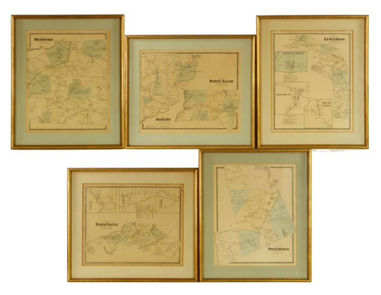 Six Westchester County Maps
