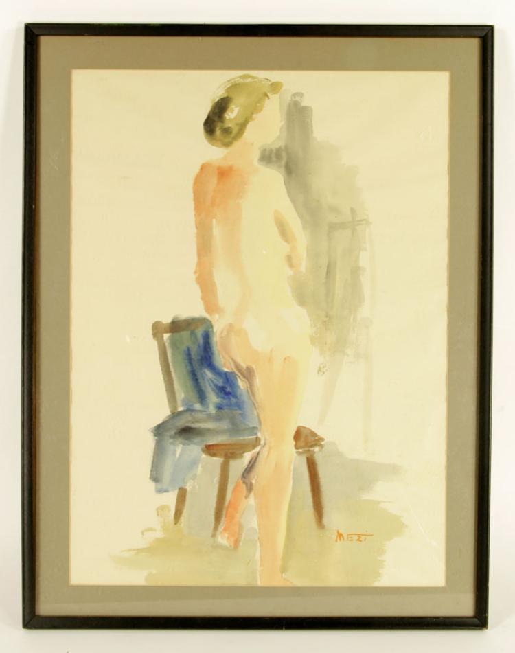 Mezi, Nude, Watercolor