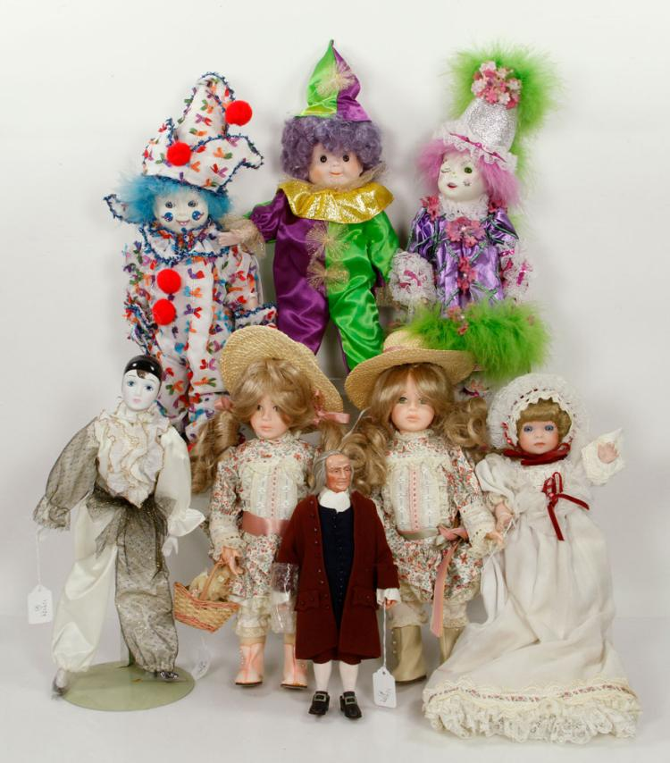 Lot of 8 China Head Dolls