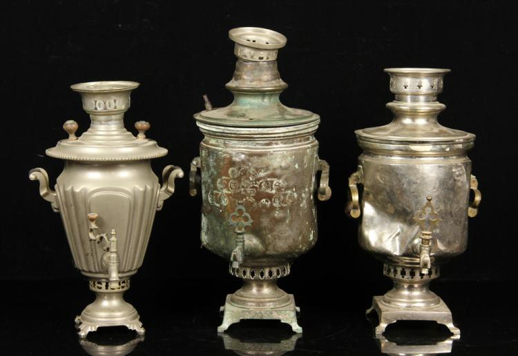 Lot of 3 Samovars