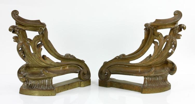 Pr. 19th C. French Bronze Chenets