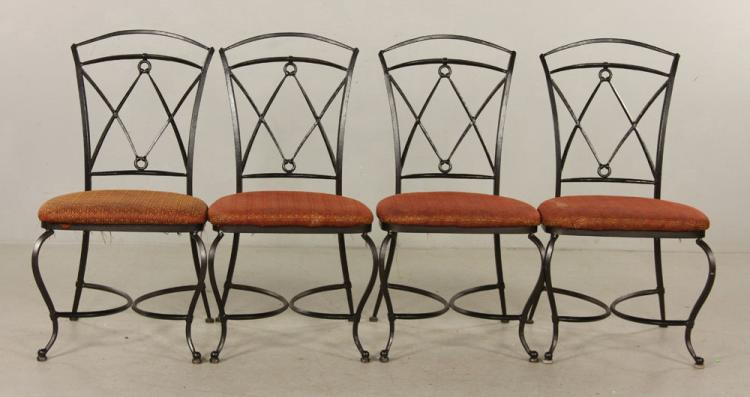 Set of Four Wrought Iron Chairs