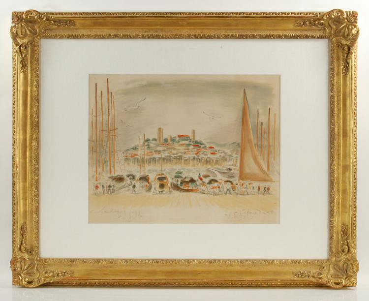 Hambourg, Hand-Colored Print