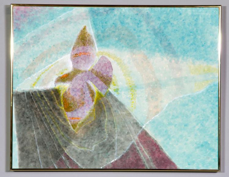Abstract Iris, Watercolor