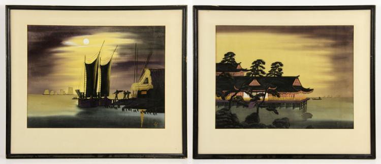 Pr. 20th C. Japanese Watercolors