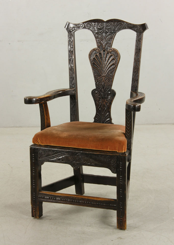Antique English Wainscot Armchair