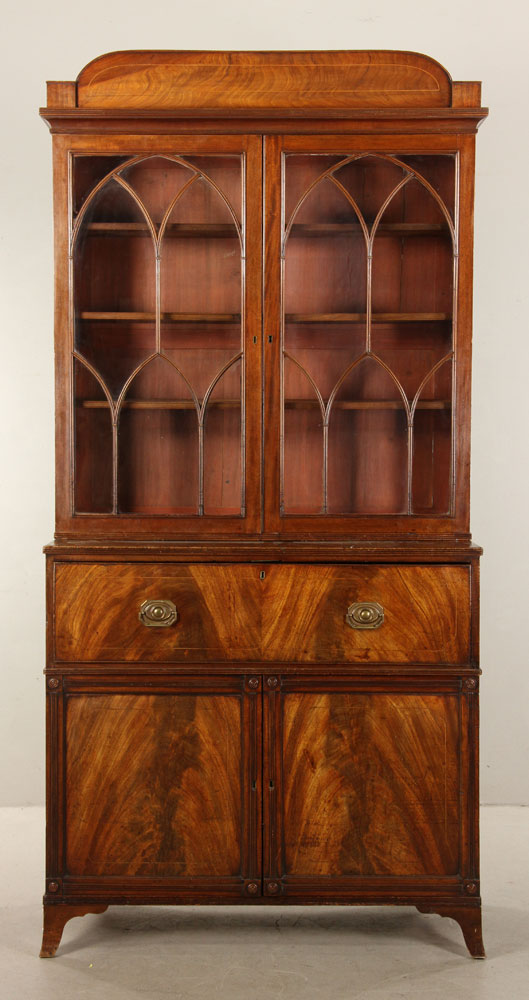 19th C. English Regency Mahogany Secretary Desk