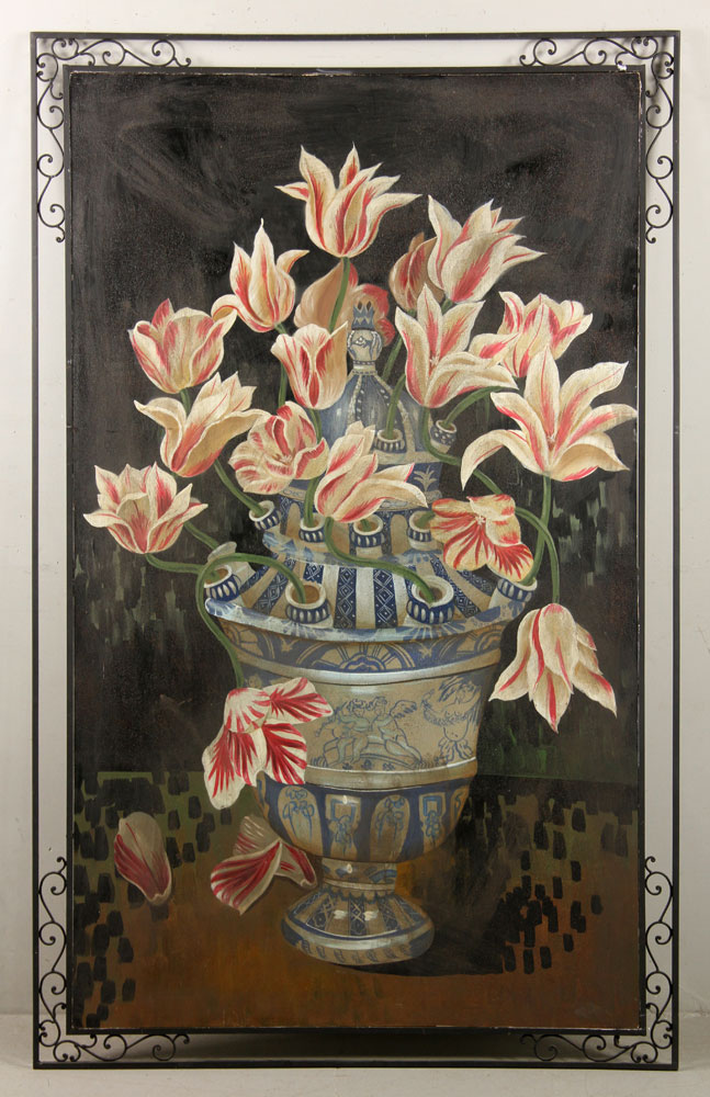 Dutch Style Floral Still Life, Oil on Board