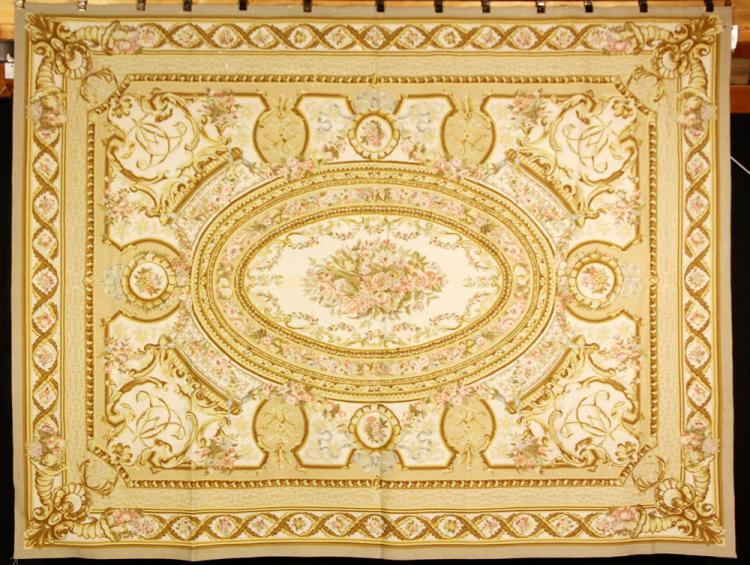 20th C. Aubusson Style Needlepoint Carpet