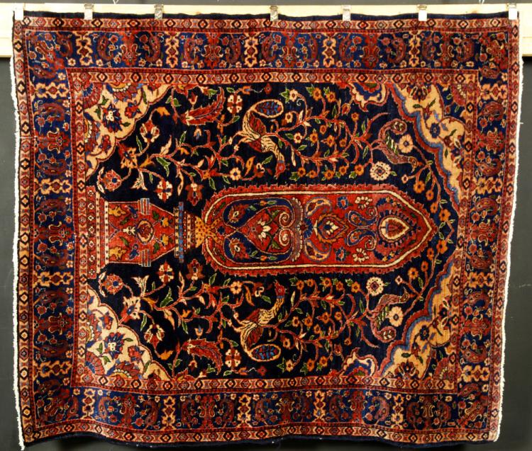 Antique Persian Tree of Life Carpet