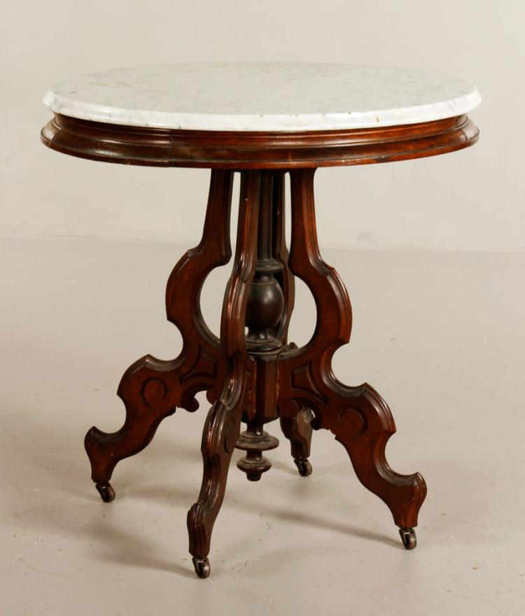 19th C. Victorian Walnut Table