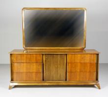 Sieling Furniture Co. Long Dresser & Vanity Mirror