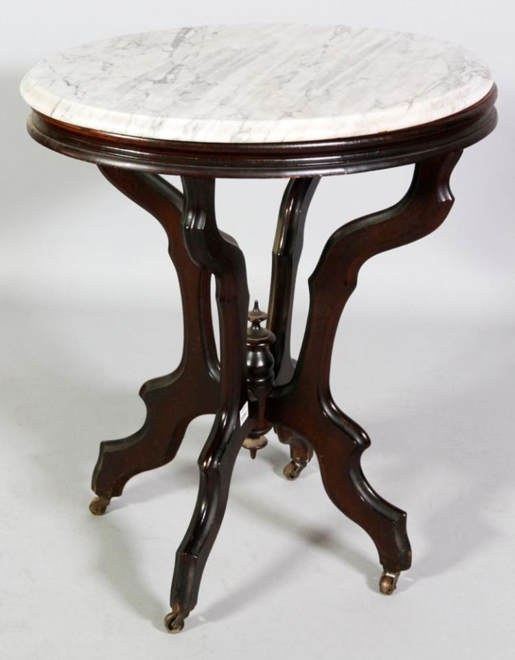 19th C. Marble Top Table
