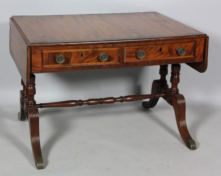 19th C. Mahogany Sofa Table
