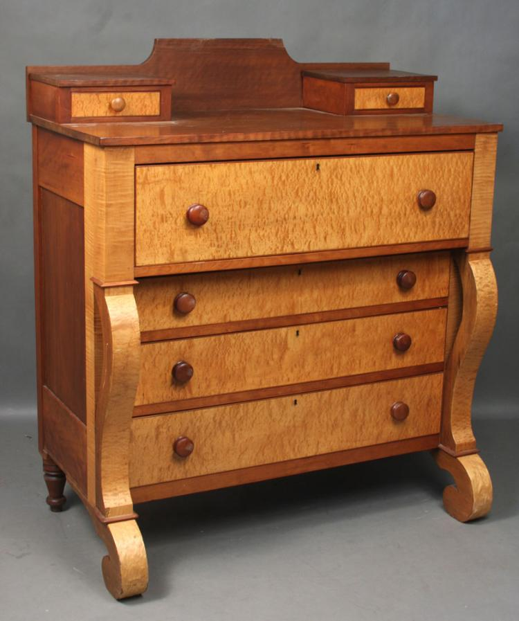 19th C. New England Birdseye Maple Chest