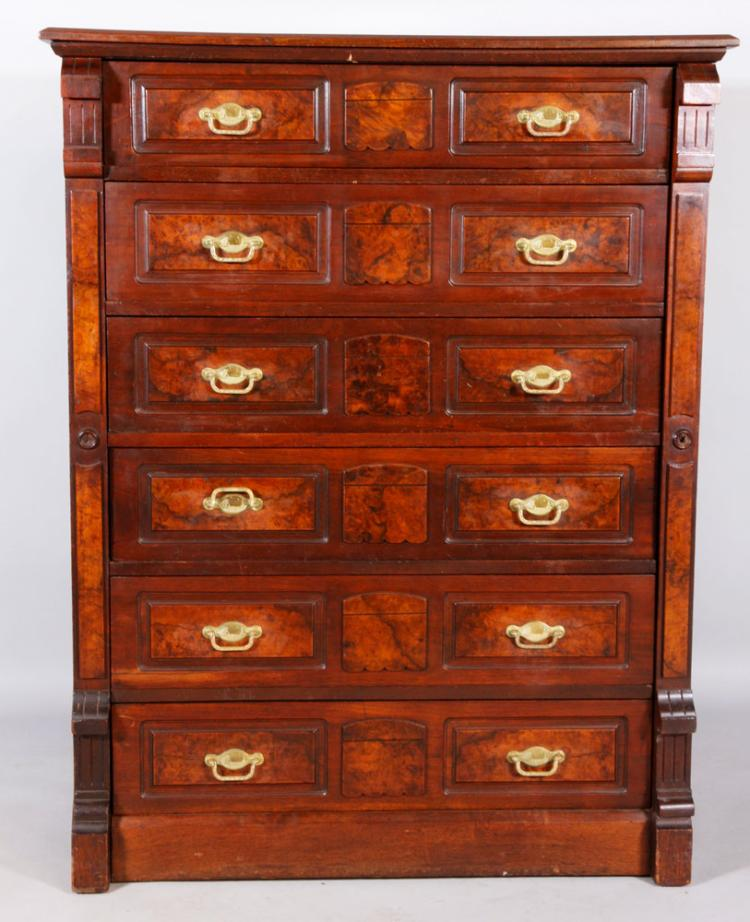 Victorian Walnut Chest