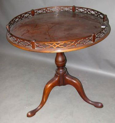 Queen Anne Style Mahogany Table