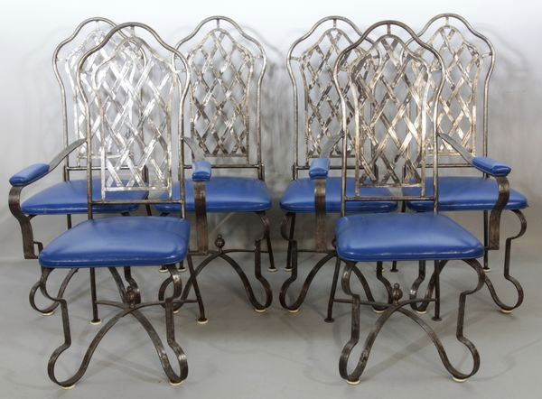 Six 1970's High Back Chairs