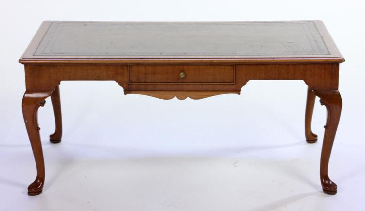 English Queen Anne Style Mahogany Coffee Table